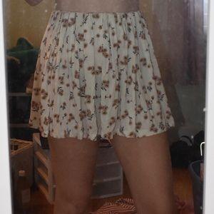 Brandy Melville flowy sunflower skirt